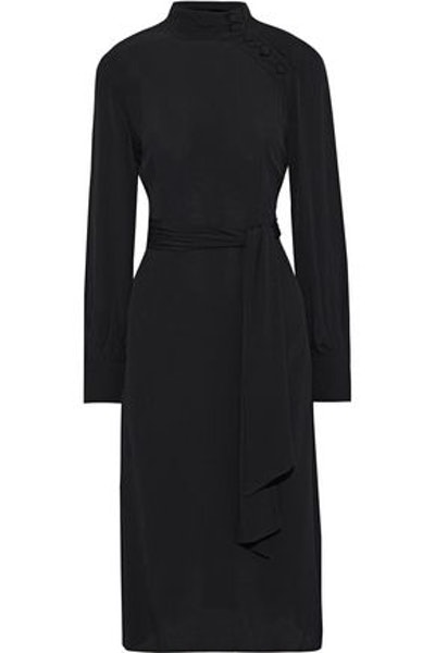 Mabil Button-Detailed Crepe Dress