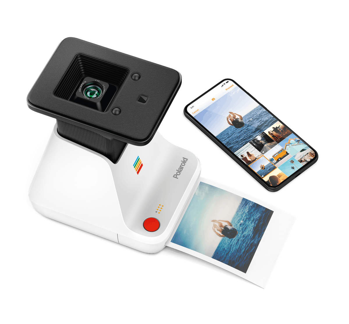 The Polaroid Lab lets to turn the pictures on your phone into physical Polaroids.