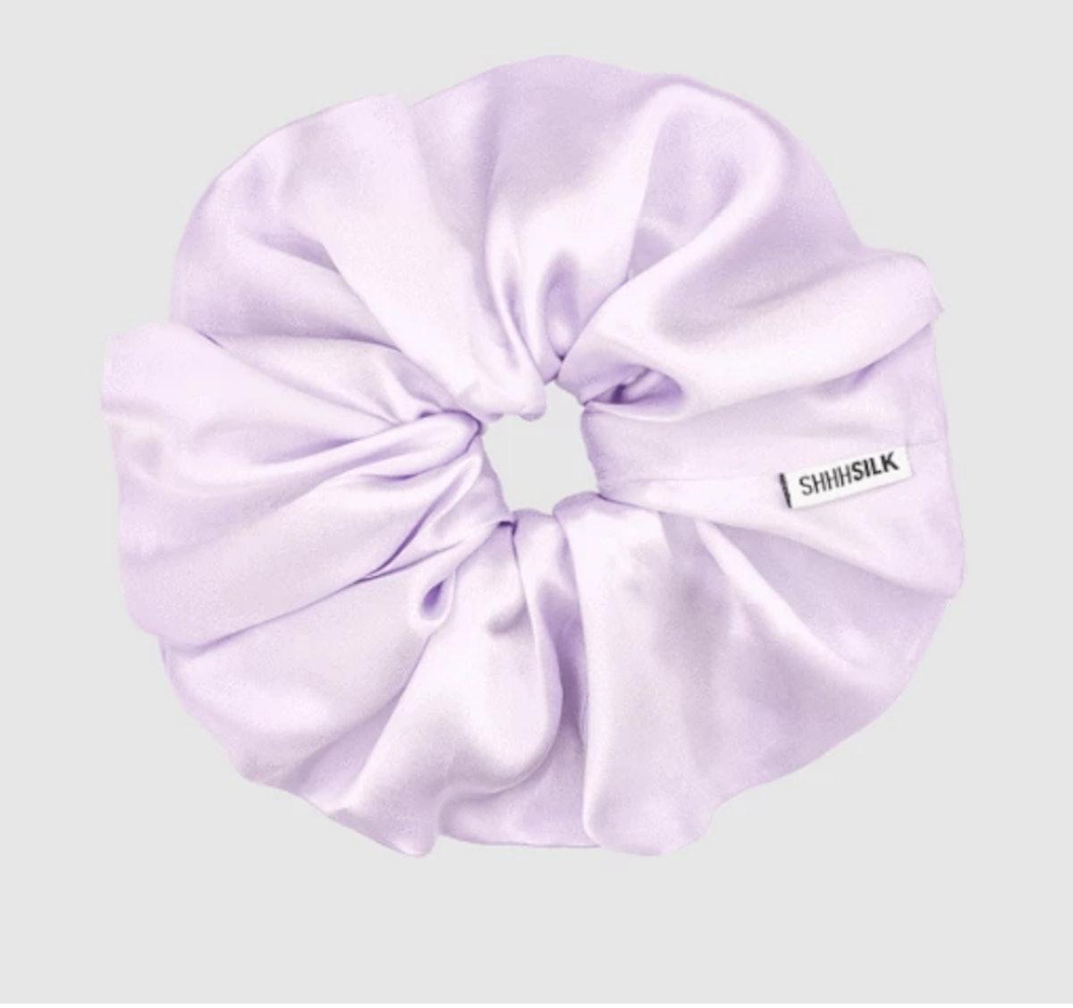 SHHH Silk Oversized Lilac Silk Scrunchie