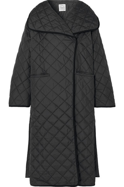 Annecy Oversized Quilted Shell Coat