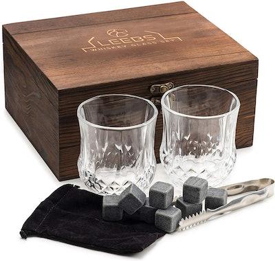 LEEBS Whiskey Stones Gift Set