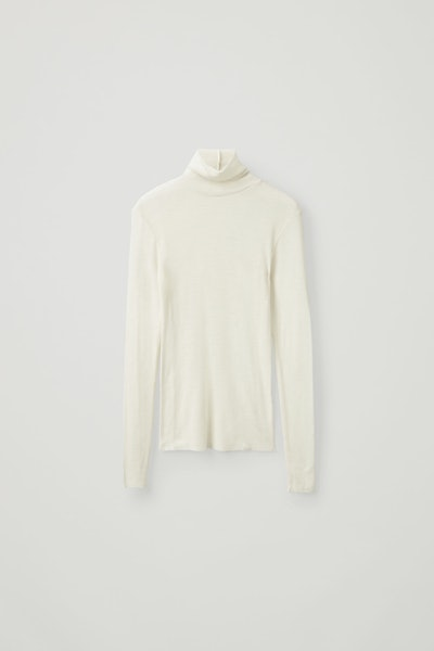 Fine Turtleneck Wool Top