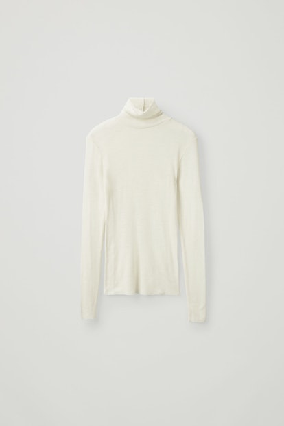 Fine Turtleneck Wool Top