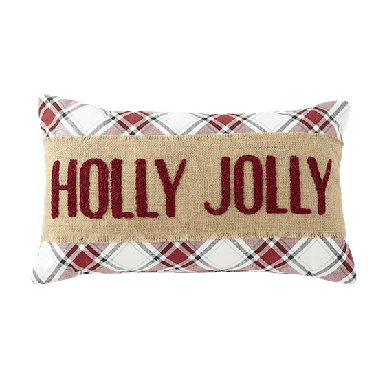 North Pole Trading Co. Holly Jolly Rectangular Throw Pillow