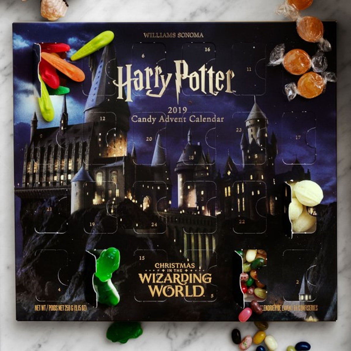 This Harry Potter Advent Calendar from Williams Sonoma is full of Harry Potter candies you've been d...