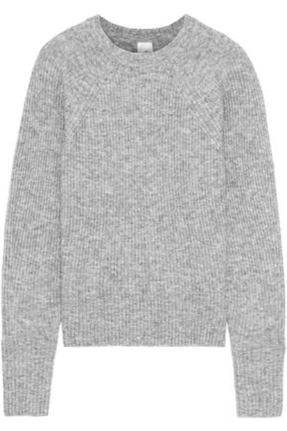 Ola Marled Ribbed-Knit Sweater