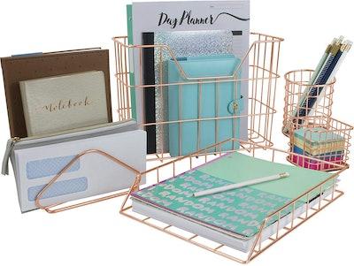 Sorbus Desk Organizer Set (5-Piece)