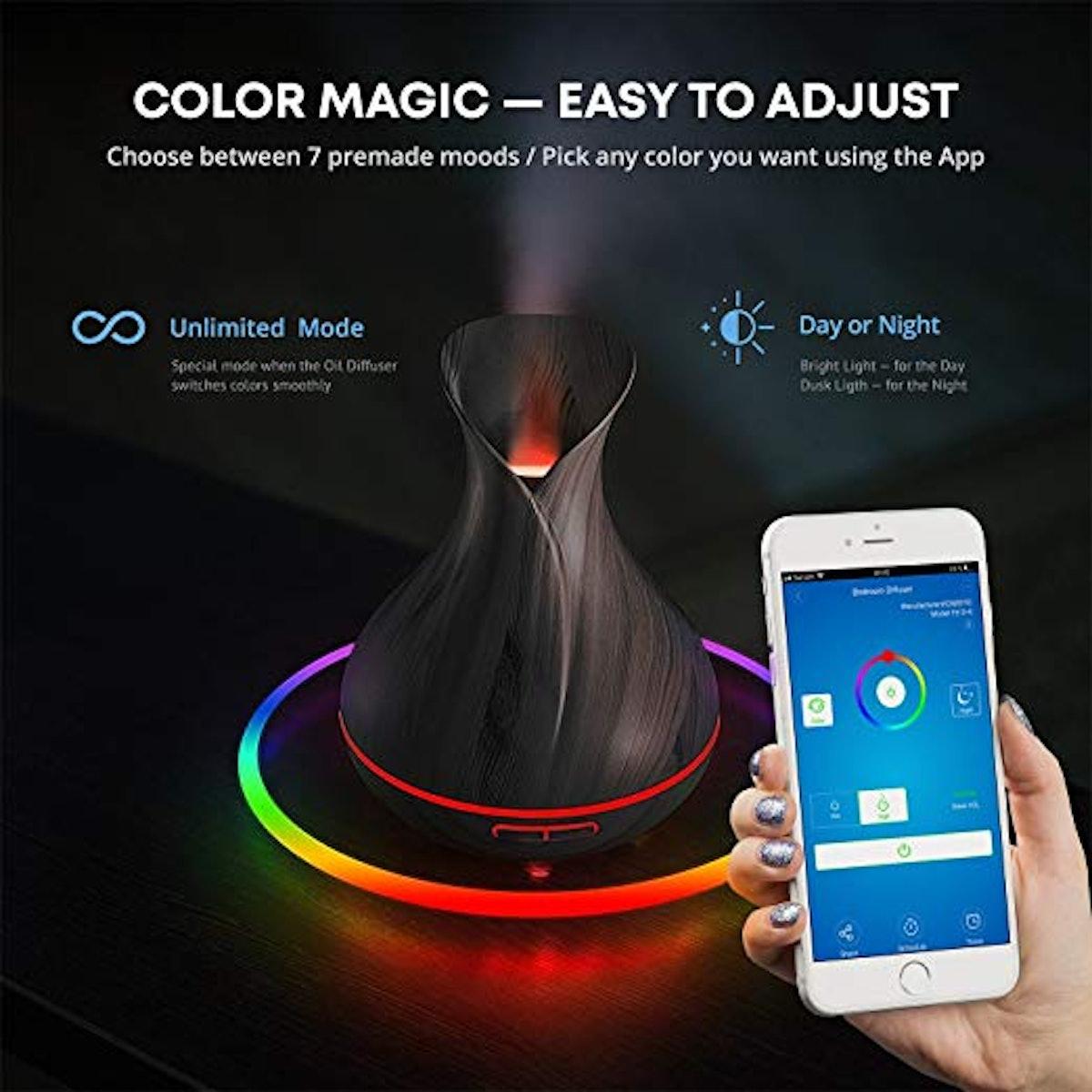 Smart Wifi Essential Oil Aromatherapy Diffuser & Humidifier