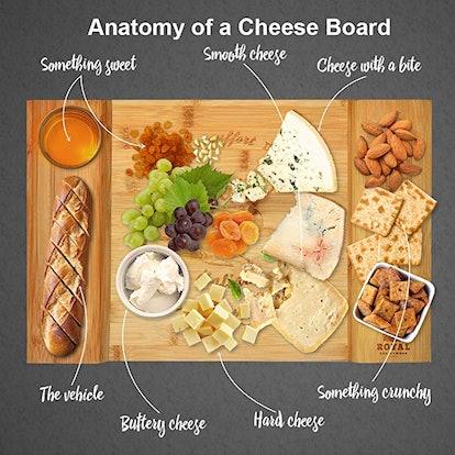 Royal Craft Wood Bamboo Cheese Board