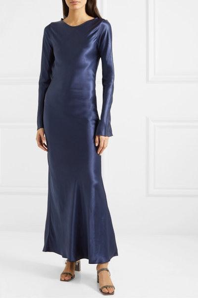 Esme Open-Back Satin Maxi Dress