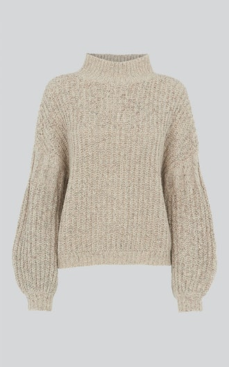 Textured Rib Blouson Knit