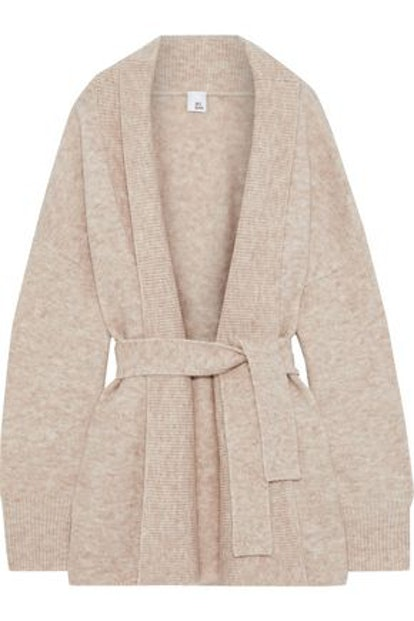 Katla Belted Brushed-Knitted Cardigan