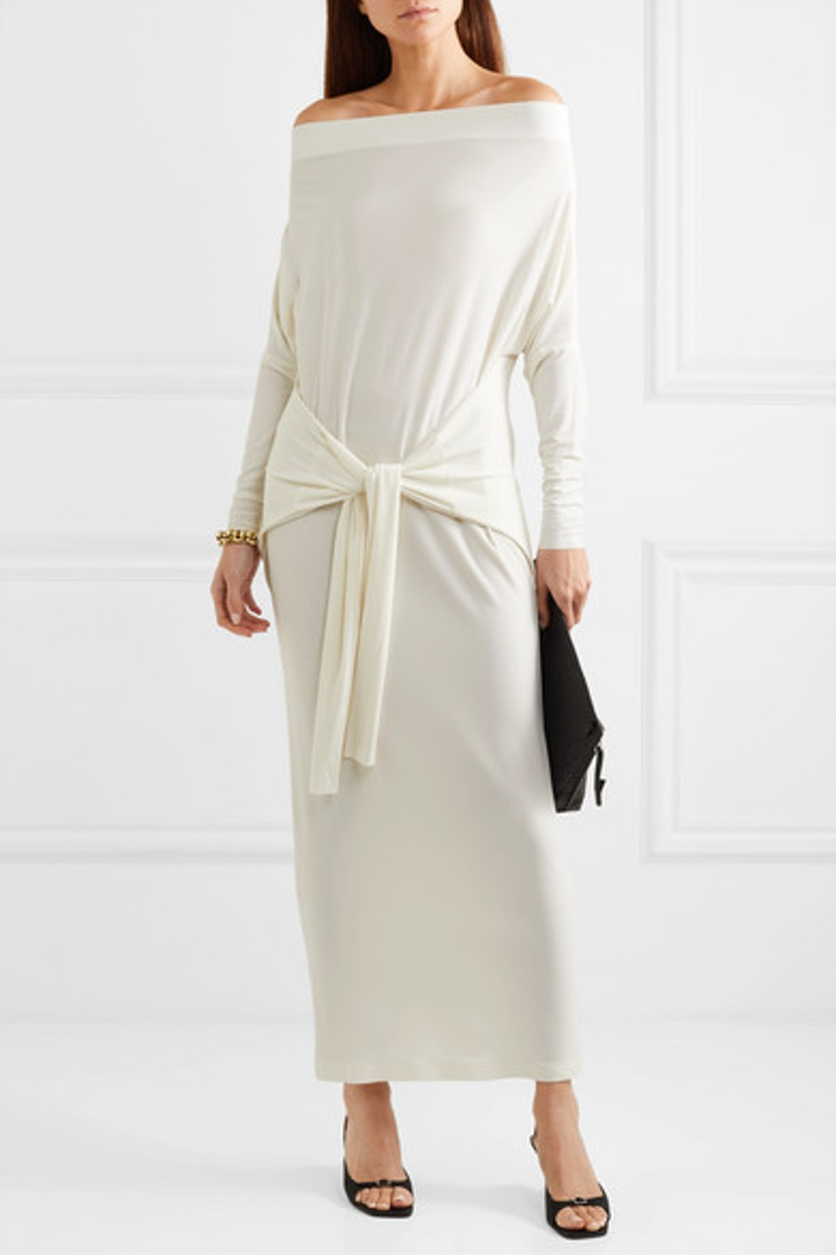 Off-the-Shoulder Stretch-Jersey Maxi Dress