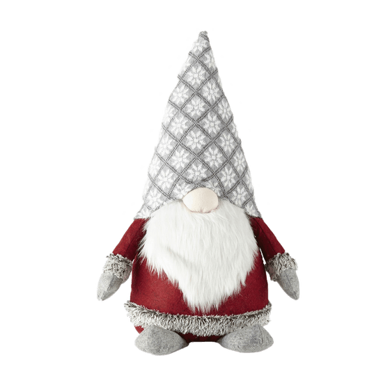 North Pole Trading Co. Mistletoe Farms Large Snowflake Hat Gnome Tabletop Decor