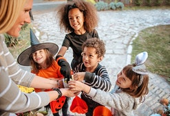 """Saying """"trick or treat"""" is a sweet tradition, but there are reasons why a child might not feel comfo..."""
