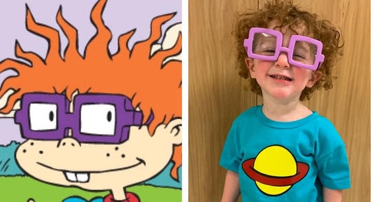 Lainey Paschal totally nailed it with her son's Chuckie Finster costume