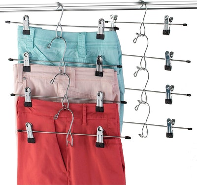 Heavy-Duty Add-On Skirt Hangers with Clips (12-Pack)
