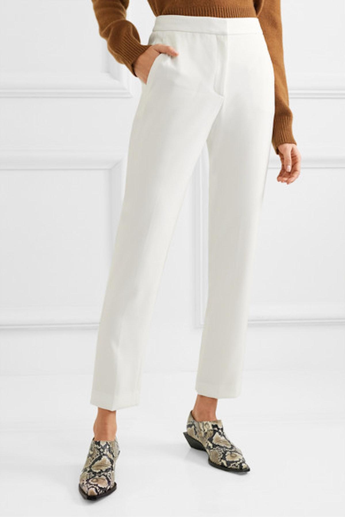 Layla Twill Straight-Leg Pants