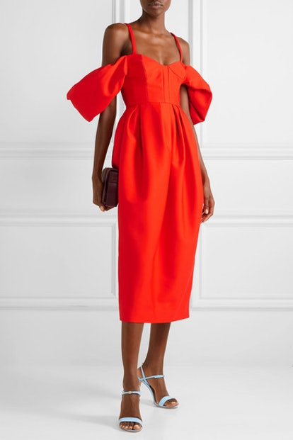 Could-Shoulder Midi Dress