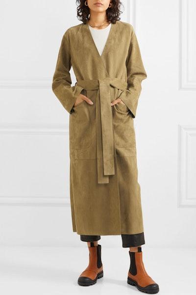 Belted Suede Coat