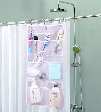 MISSLO Hanging Mesh Pocket Shower Organizer