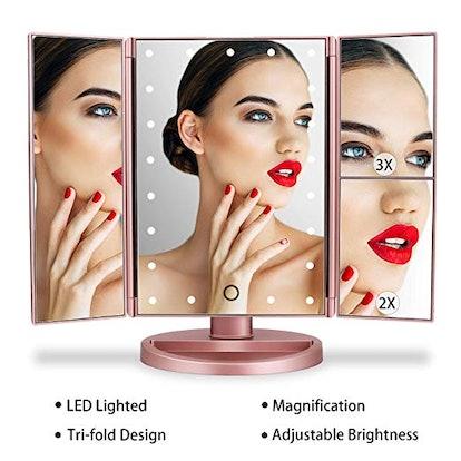 Tri-Fold Vanity Makeup Mirror