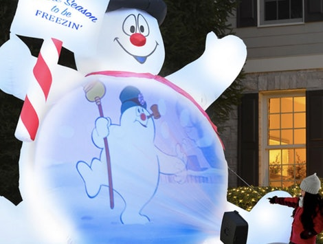 This 10-foot Frosty The Snowman plays clips from the holiday classic.