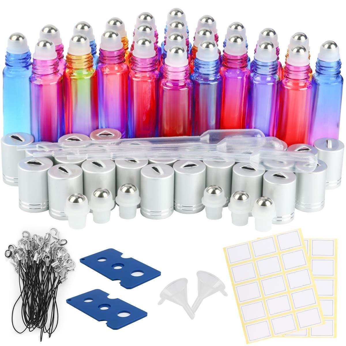 ESARORA Essential Oil Roller Bottles (24-Pack)