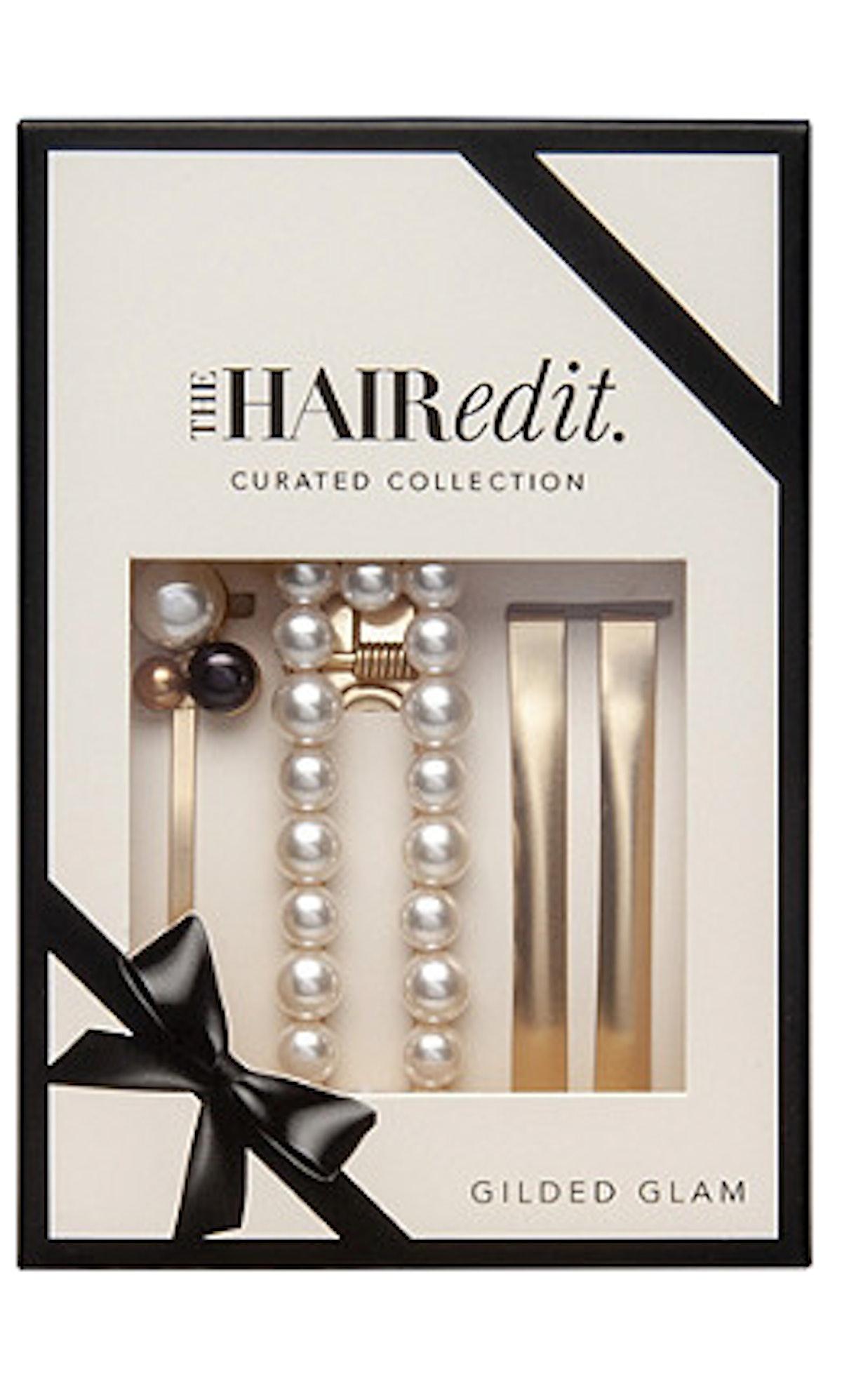 The Hair Edit  Gilded Glam Set