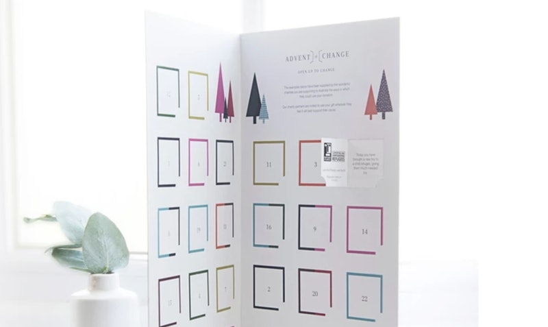 Non-profit organization Advent Of Change's advent calendars let you donate to a different charity each day in the weeks leading up to Christmas.