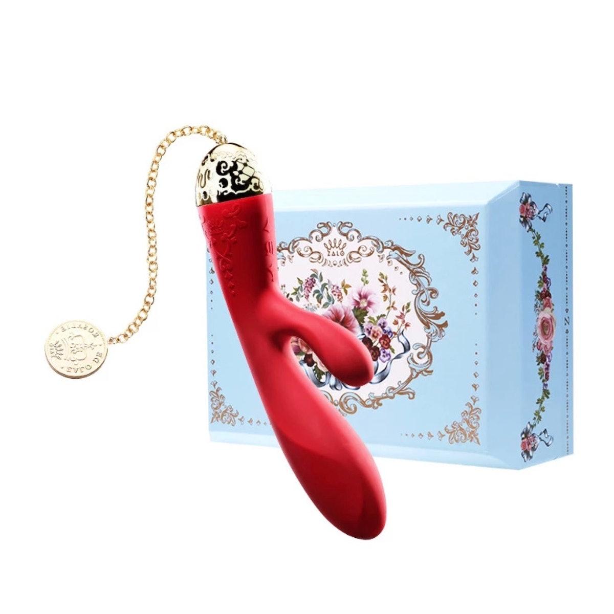 Rosalie Rabbit Vibrator - Bright Red