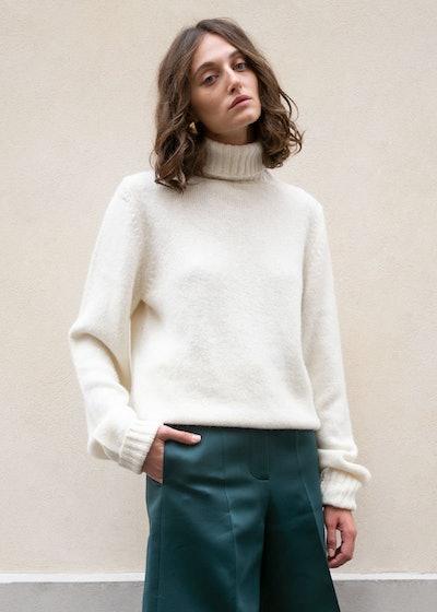 Walter Turtleneck Sweater In Bone By Rika Studios