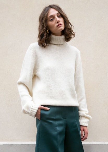 Walter Turtleneck Sweater In Bone By Rika Studios