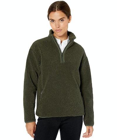 Daily Ritual Women's Teddy Bear Fleece Quarter Zip Jacket