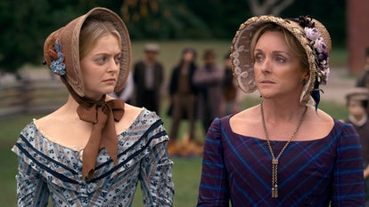"Anna Baryshnikov and Jane Krakowski in ""Dickinson,"" premiering November 1 on Apple TV+."