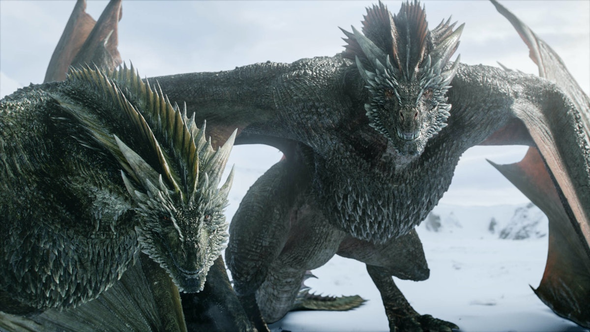 Dragons from Game of Thrones