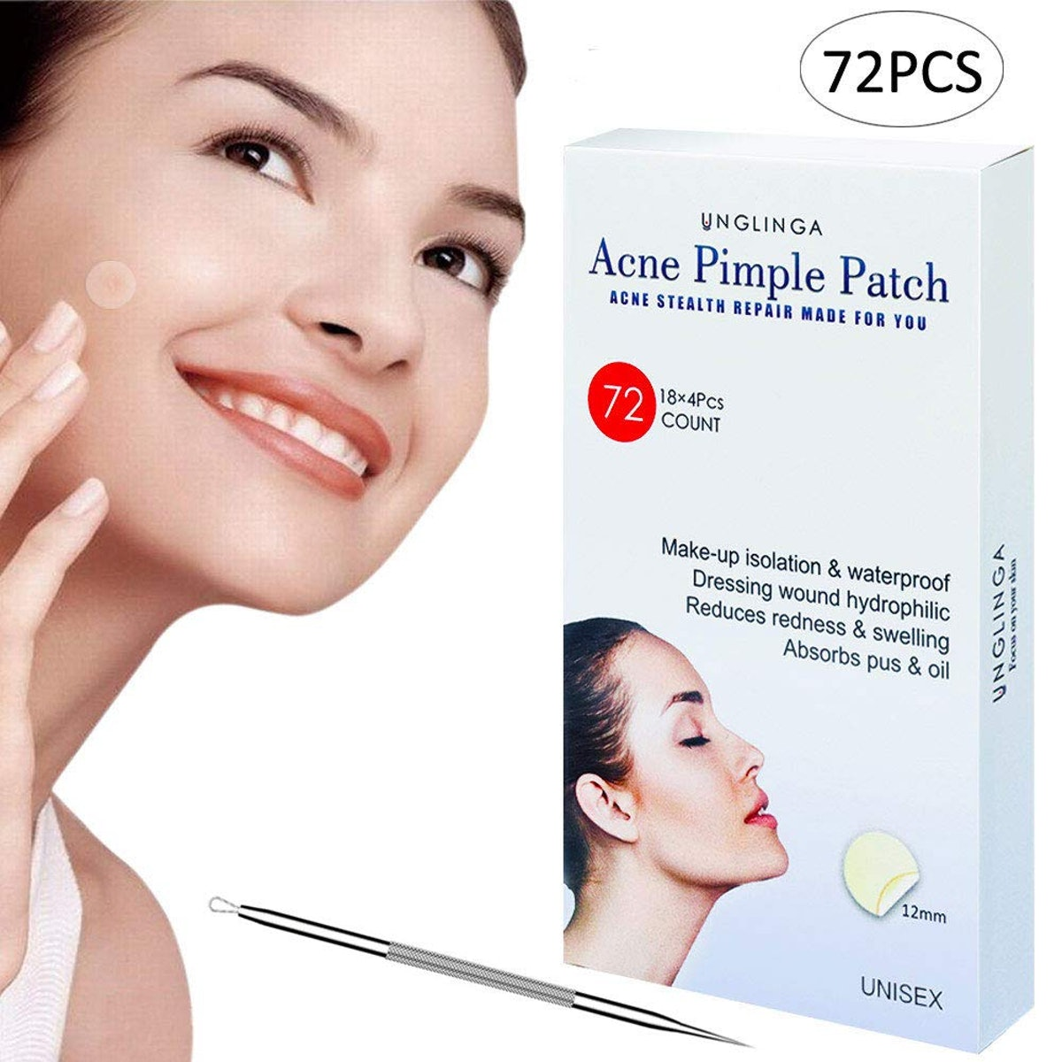 Unglinga Pimple Patches (72-Pack)