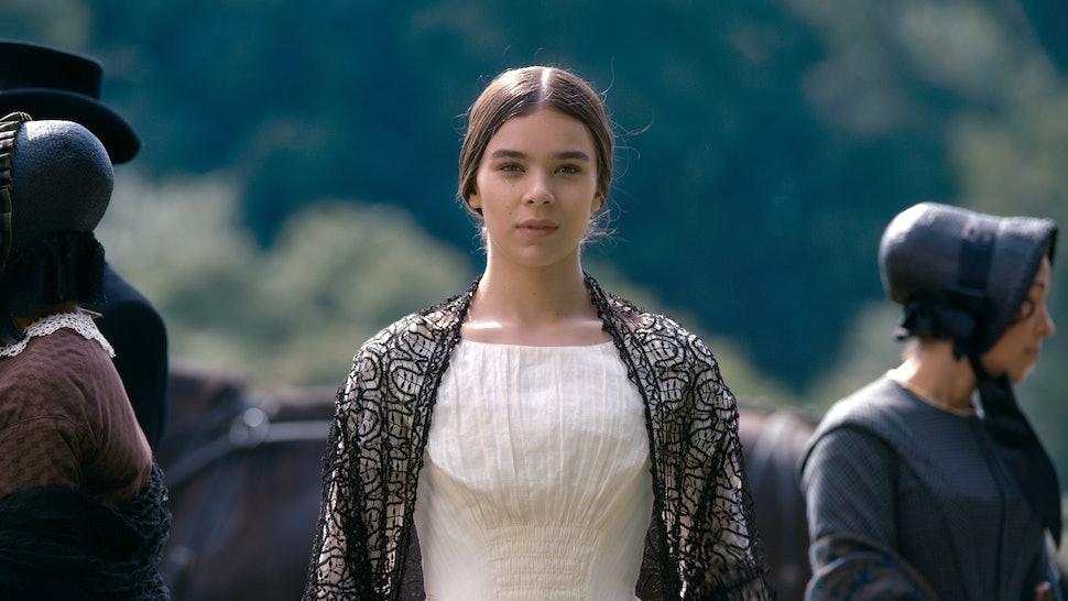 """Hailee Steinfeld stars in """"Dickinson,"""" premiering November 1 on Apple TV+."""