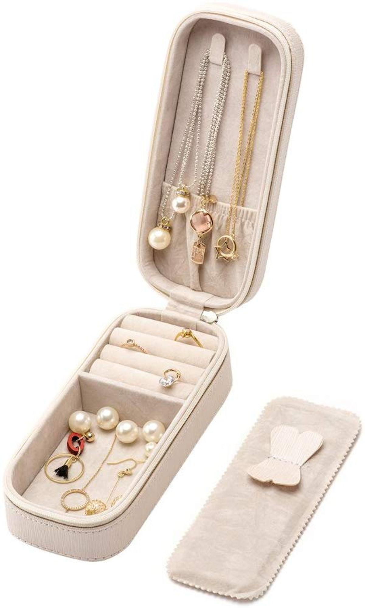 SANQIANWAN Small Jewelry Travel Organizer
