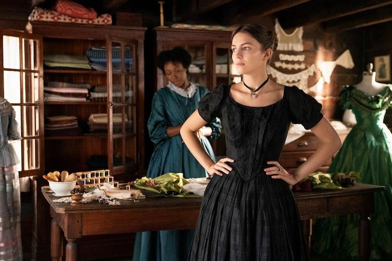 "Ella Hunt in ""Dickinson,"" premiering November 1 on Apple TV+."