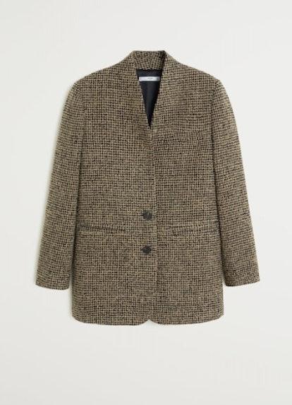Buttons tweed blazer