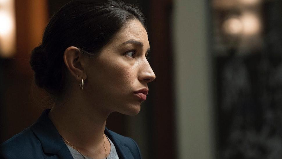 "Jamie Gray Hyder as Katriona ""Kat"" Azar Tamin in 'Law & Order: SVU.'"