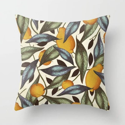 Lemons, Oranges & Pears Throw Pillow