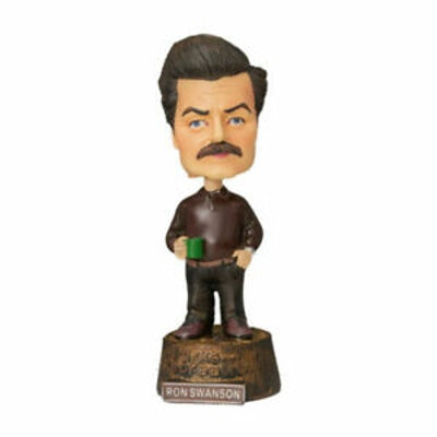 Parks and Recreation Rec Ron Swanson Bobblehead Bobble Head Figure NBC Pawnee