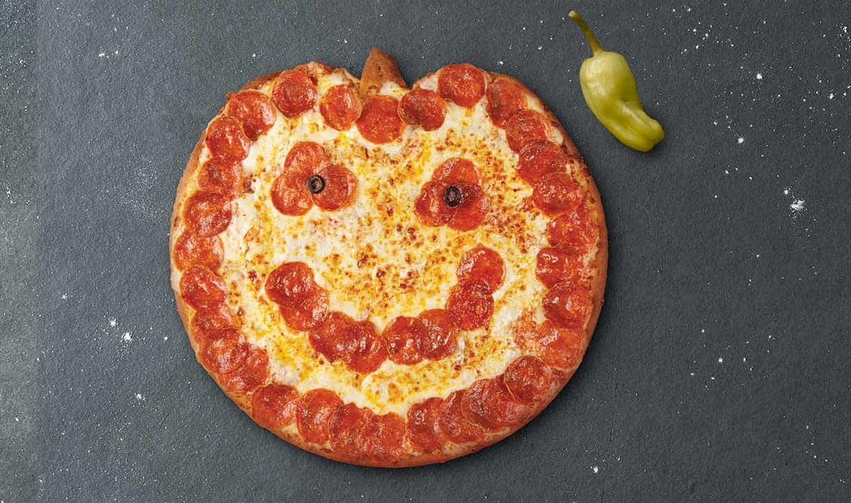 Here's How To Get Papa John's Pumpkin-Shaped Pizza for your Halloween dinner.