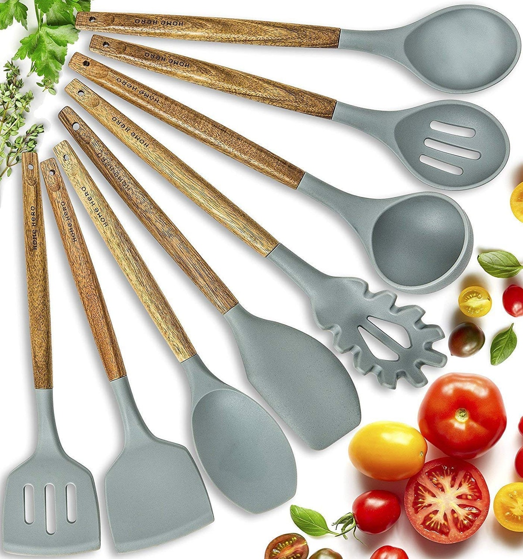 Home Hero Silicone Cooking Utensils Kitchen Utensil Set (8-Piece Set)