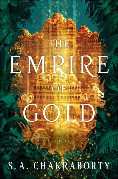 The cover of The Empire of Gold by S.A. Chakraborty.