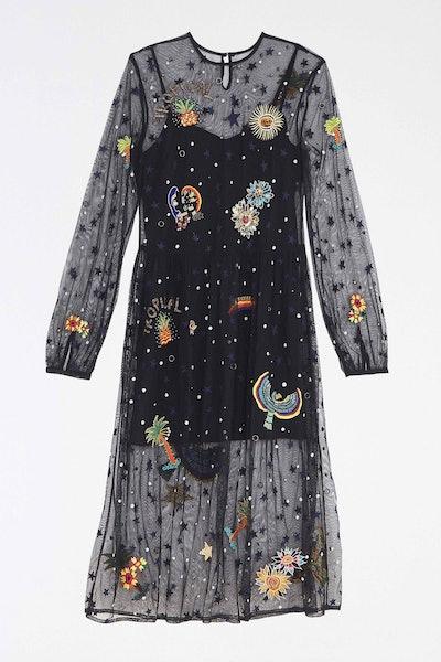 Embroidered Borogodo Dress