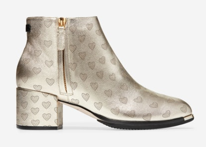Bootie in Soft Gold Metallic Leather