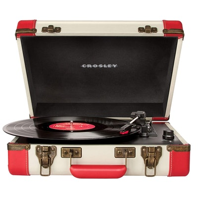 Crosley CR6019A-RE Executive Portable USB-Enabled 3-Speed Turntable (Red/Cream)
